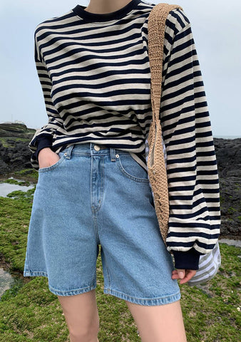 Jeju And Sea Stripes Top