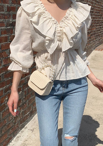 Let Spring Rolls Ruffle Blouse