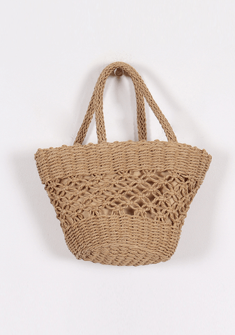 The Confession Straw Bag