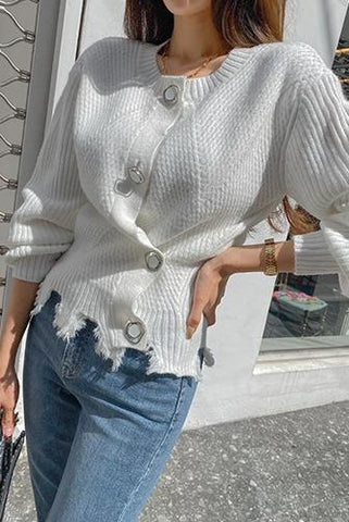 Keep Your Resolution Ribbed Knit Cardigan