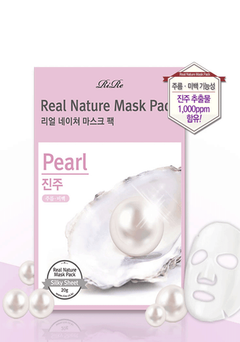 天然珍珠亮白面膜<BR>Real Nature Mask Pack (Pearl)
