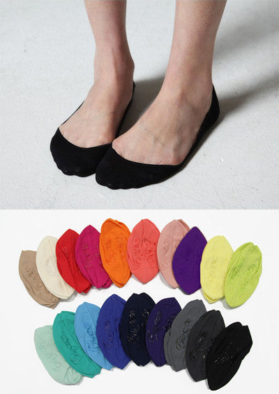 Silicone Loafer/Flat Socks (19 Colors)<br>10 pairs
