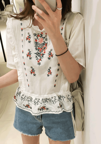 The Small Details Embroidered Blouse