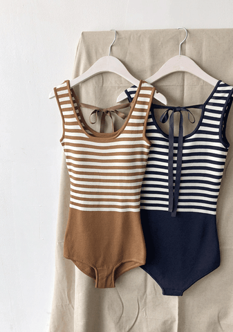 Accept Your Flaws Stripes One-Piece