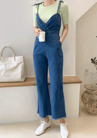 First Day Of School Denim Jumpsuit