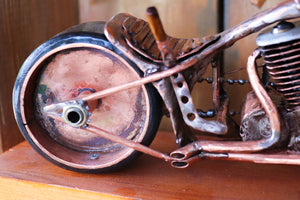 Classic Old School Chopper - Handcrafted motorcycle art