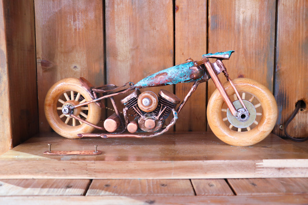 Patina Pan Head - Handcrafted motorcycle art