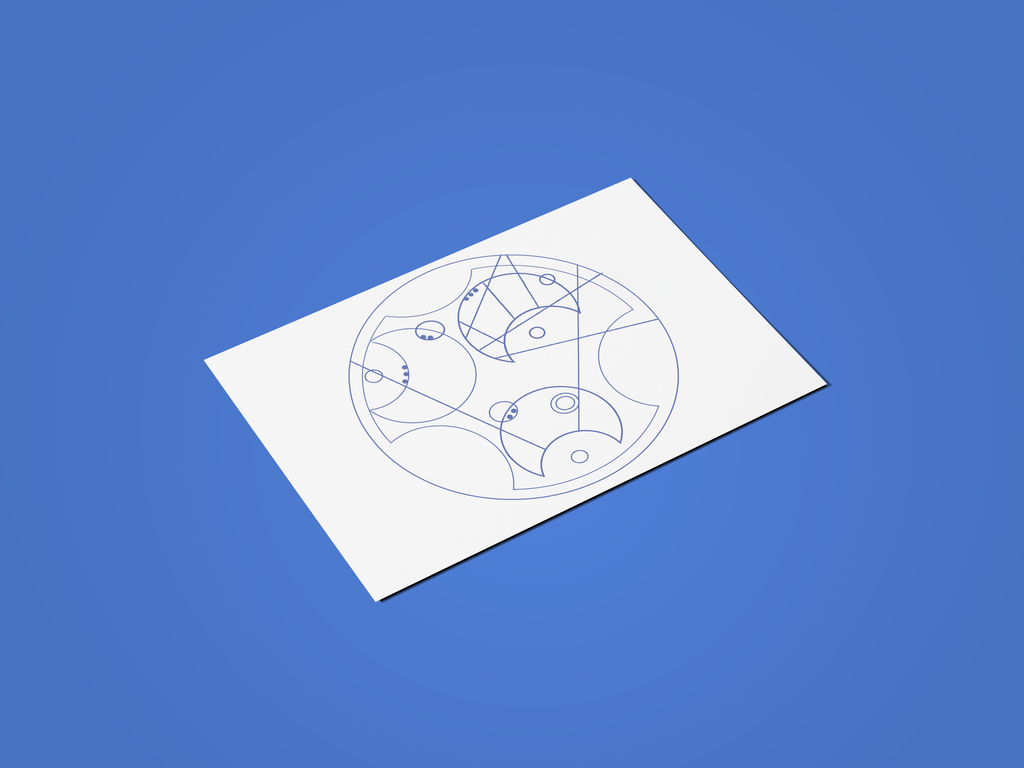 Happy Father's Day - Written in Gallifreyan - Doctor Who Digital Father's Day Card - Supernerdmart