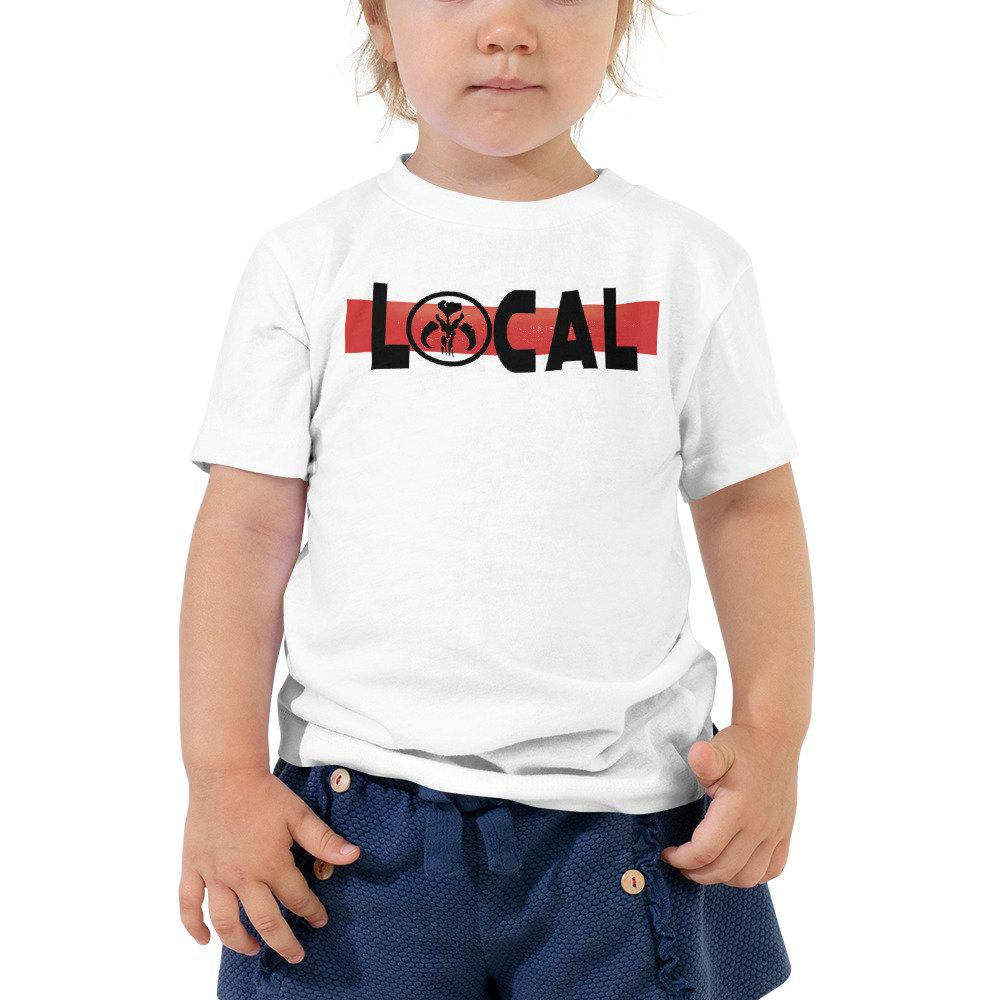 Local - Star Wars Madalorian/Bounty Hunter - Novelty Toddler T-Shirt - Matching Family Vacation T-shirts - Comic Conventions - Supernerdmart