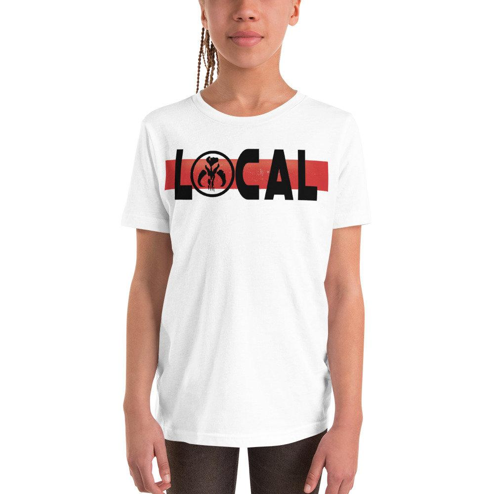 Local - Star Wars Madalorian/Bounty Hunter - Novelty Youth T-Shirt - Matching Family Vacation T-shirts - Comic Conventions - Supernerdmart