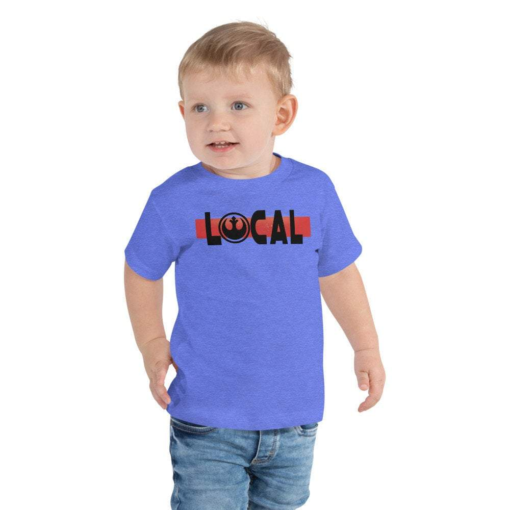 Local - Star Wars Rebel - Novelty Toddler T-Shirt - Matching Family Vacation T-Shirt - Comic Conventions - Supernerdmart