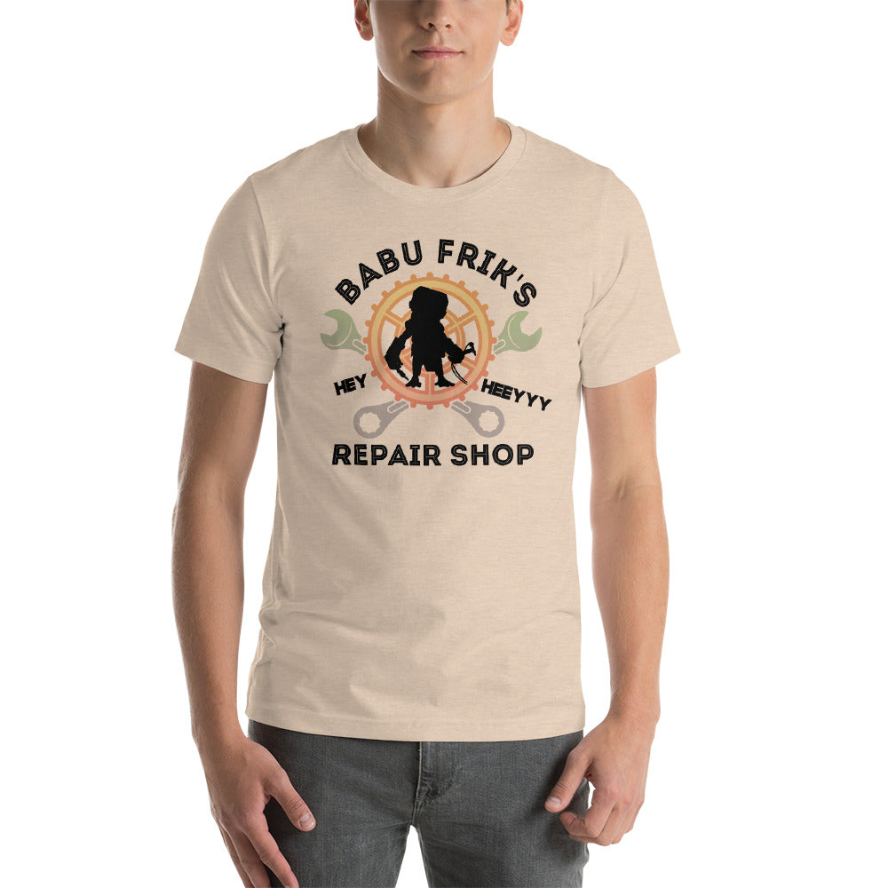 Babu Frick's Repair Shop - Star Wars - Short-Sleeve Unisex T-Shirt - Supernerdmart