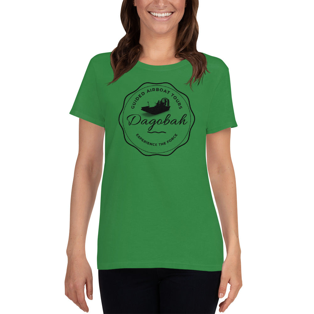 Dagobah Airboat Swamp Tours - Experience The Force - Star Wars Women's T-Shirt - Supernerdmart