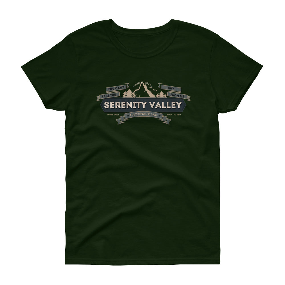 Serenity Valley National Park Tour - Firefly/Serenity Novelty Browncoat Women's short sleeve t-shirt - Supernerdmart