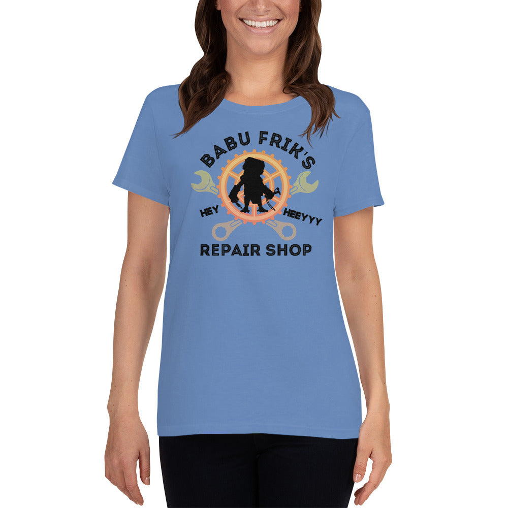 Babu Frick's Repair Shop - Star Wars - Women's short sleeve t-shirt - Supernerdmart