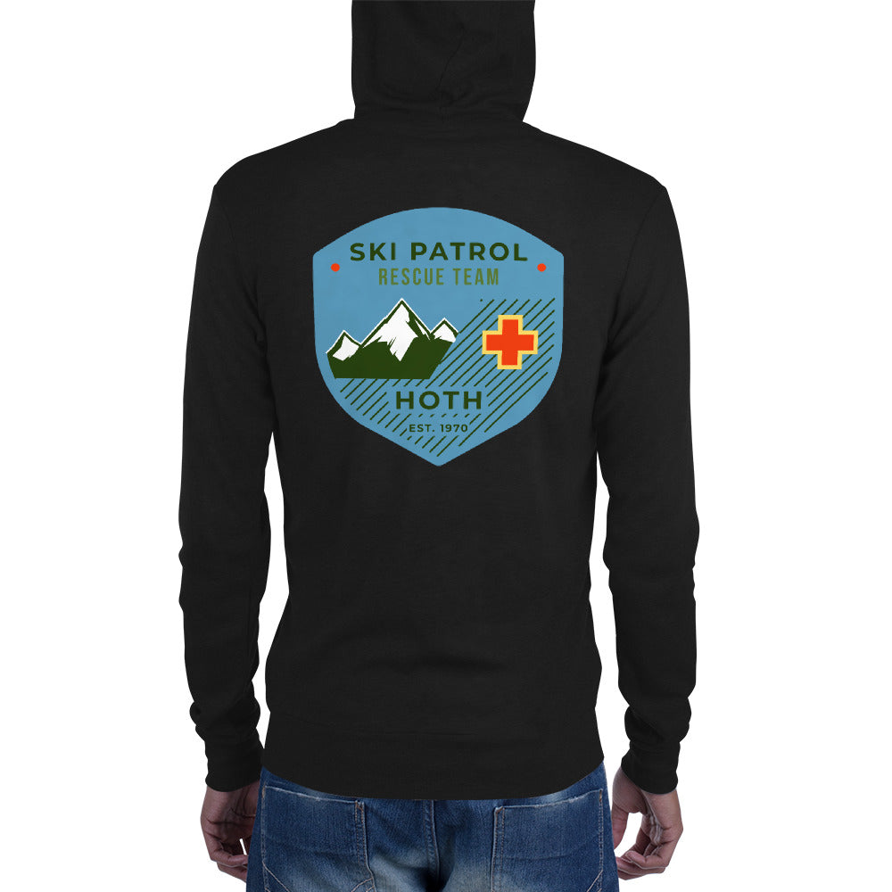 Hoth Ski Patrol T-shirt - Novelty Star Wars - Unisex zip hoodie - Supernerdmart