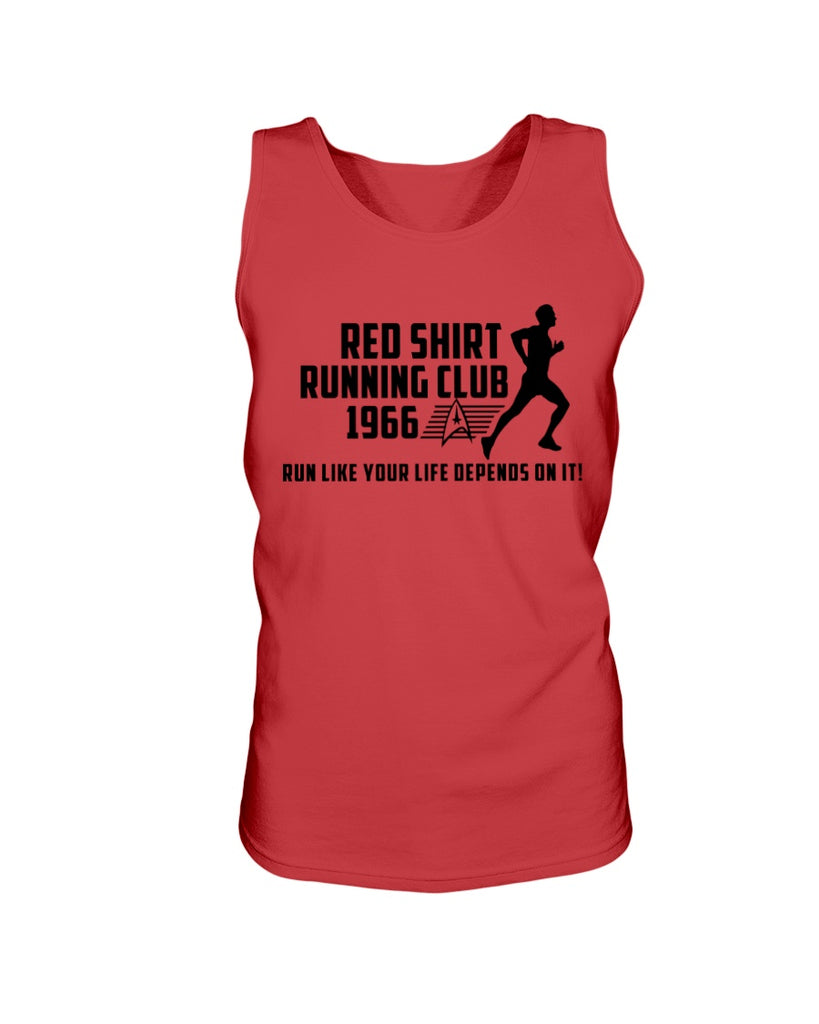 Red Shirt Running Club - Star Trek Men's Tank Top - Supernerdmart