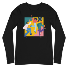 Load image into Gallery viewer, Joyful Missionary Disciple Long Sleeve T-Shirt in Black | Unleash the Gospel