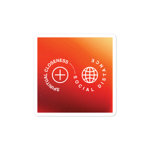 "Spiritual Closeness Christian Catholic Sticker 3""x3"" 