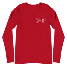 Load image into Gallery viewer, Spiritual Closeness Long Sleeve Unisex T-Shirt in red | Unleash the Gospel