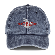 Load image into Gallery viewer, Mercy in Action Vintage Cotton Twill Cap