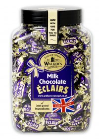 Walkers Nonsuch Milk Chocolate Eclairs Toffee Jar 1 x 1.25kg