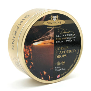 Simpkin's Travel Sweets Coffee Flavoured Drops Tin 6 x 200g