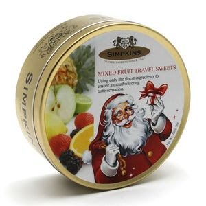 Simpkin's Travel Sweets Santa Fruit Drops Tin 6 x 200g