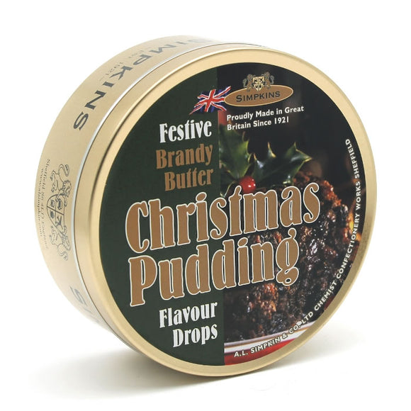 Simpkin's Travel Sweets Christmas Pudding Brandy Butter Tin 6 x 200g