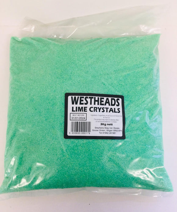 Westheads Lime Green Crystals 3kg Bag