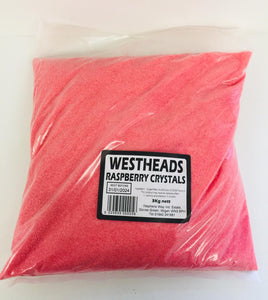 Westheads Raspberry Crystals 3kg Bag