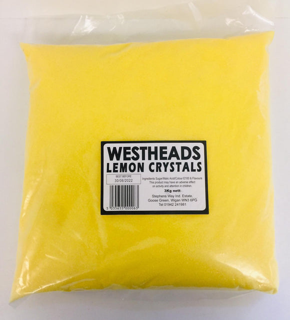 Westheads Lemon Crystals 3kg Bag