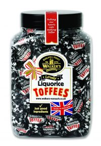 Walkers Nonsuch Liquorice Toffee Jar 1 x 1.25kg
