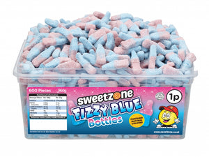 SweetZone 1p Fizzy Blue Bottles 1 x 600pk
