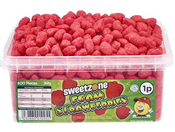 SweetZone 1p Foam Strawberries 1 x 600pk