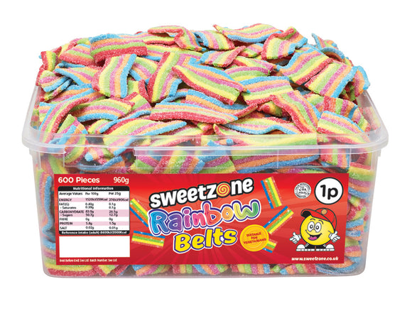 SweetZone 1p Rainbow Belts 1 x 600pk