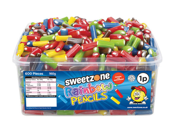 SweetZone 1p Rainbow Pencils 1 x 600pk