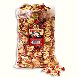 Walkers Nonsuch Nutty Brazil Toffee Poly Bag 1 x 2.5kg