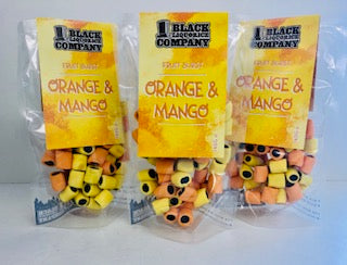 Black Liquorice Company Fruit Burst Orange & Mango Pre-Pack Bags 6 x 165g