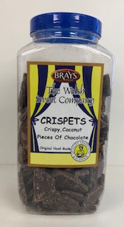 Brays Crispy Coconut Chocolate Crispets Jar 1 x 2kg