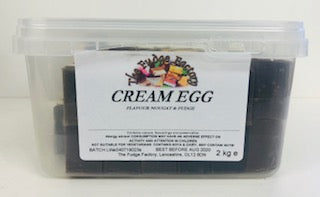 Fudge Factory Cream Egg Fudge Bulk Tub 1 x 2kg