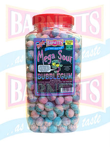 Barnetts Mega Sour Bubblegum  Jar 1 x 3kg