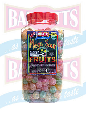 Barnetts Mega Sour Fruits Jar 1 x 3kg