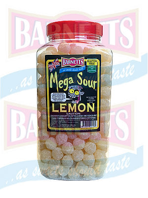 Barnetts Mega Sour Lemon  Jar 1 x 3kg