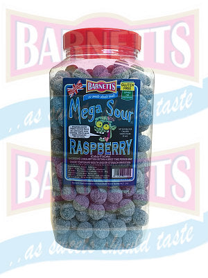 Barnetts Mega Sour Raspberry  Jar 1 x 3kg