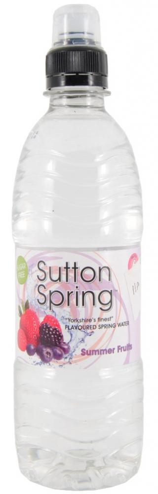 Sutton Spring Summer Fruit Flavoured Water Sports Cap  12 x 500ml