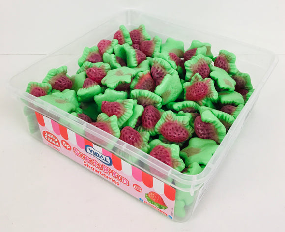 Vidal Jelly Filled Strawberries Tubs 120 x 5p