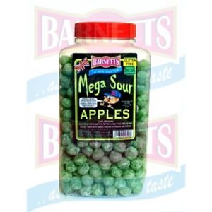 Barnetts Mega Sour Apple Jar 1 x 3kg