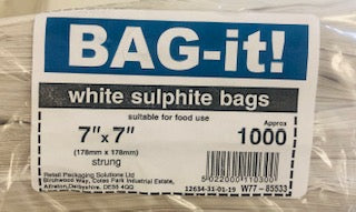 RPS White Paper Sulphite Strung Bags 7