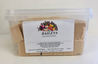 Fudge Factory Baileys Fudge Bulk Tub 1 x 2kg